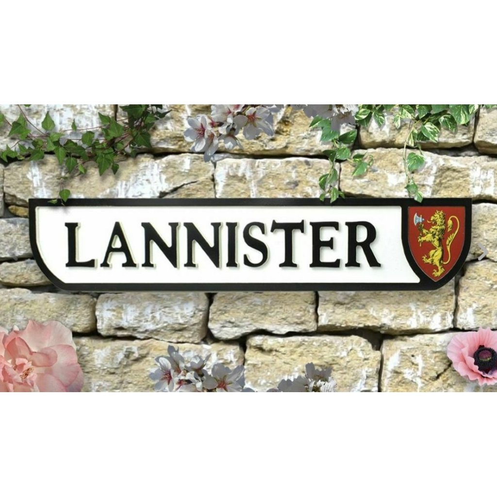 Lannister Sign-Nook and Cranny - 2019 REI National Gift Store of the Year
