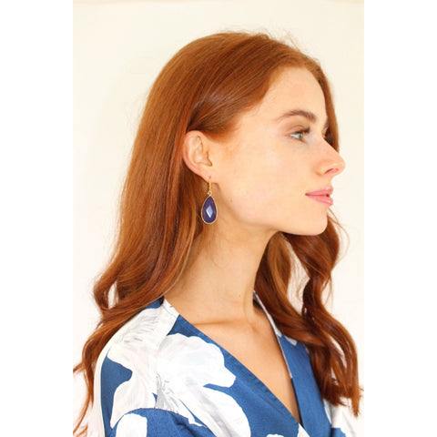 Lapis Chalcedony Earrings - Short-Nook and Cranny - 2019 REI National Gift Store of the Year