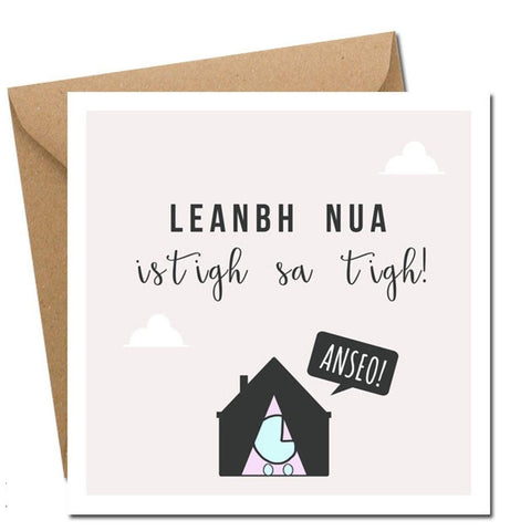 Leanbh Nua - Card (New Baby in Irish)-Nook & Cranny Gift Store-2019 National Gift Store Of The Year-Ireland-Gift Shop