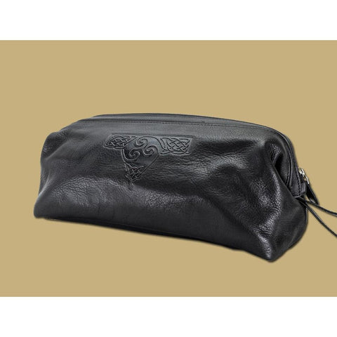 Leather Wash Bag - Made in Ireland-Nook and Cranny - 2019 REI National Gift Store of the Year