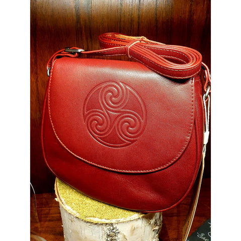 Lee River Leather - Saddle Bag Oxblood Red (Handmade in Ireland)-Nook & Cranny Gift Store-2019 National Gift Store Of The Year-Ireland-Gift Shop