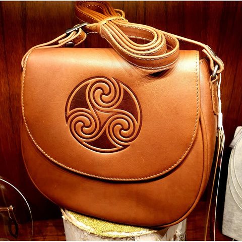 Lee River Leather - Saddle Bag Tan (Handmade in Ireland)-Nook & Cranny Gift Store-2019 National Gift Store Of The Year-Ireland-Gift Shop