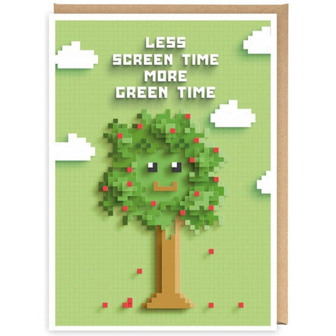 Less Screen Time More Green Time - Card-Nook and Cranny - 2019 REI National Gift Store of the Year