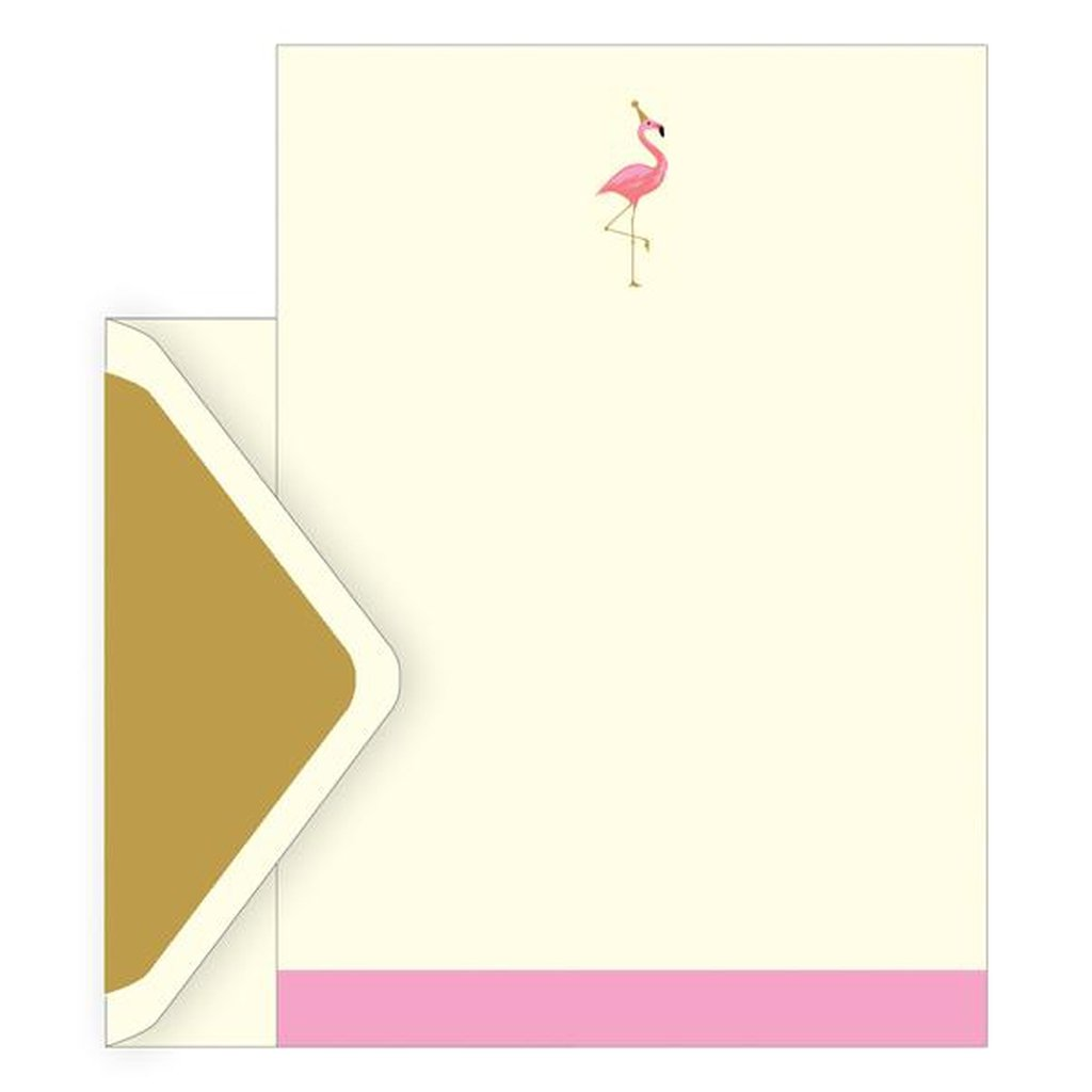 Letter Set of 10 with envelopes - Flamingo-Nook and Cranny - 2019 REI National Gift Store of the Year