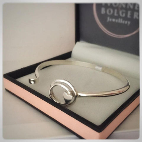 Love Knot Sterling Silver Bangle - Made in Laois-Nook and Cranny - 2019 REI National Gift Store of the Year