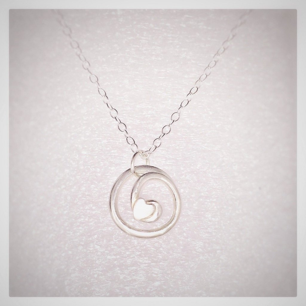 Love Knot Sterling Silver Pendant & Chain - Made in Laois-Nook and Cranny - 2019 REI National Gift Store of the Year