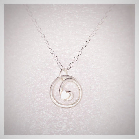 Love Knot Sterling Silver Pendant & Chain - Made in Laois-Nook & Cranny Gift Store-2019 National Gift Store Of The Year-Ireland-Gift Shop