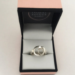 Love Knot Sterling Silver Ring - Made in Laois-Nook & Cranny Gift Store-2019 National Gift Store Of The Year-Ireland-Gift Shop