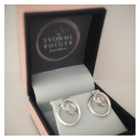 Love Knot Sterling Silver Stud Earrings - Made in Laois-Nook and Cranny - 2019 REI National Gift Store of the Year