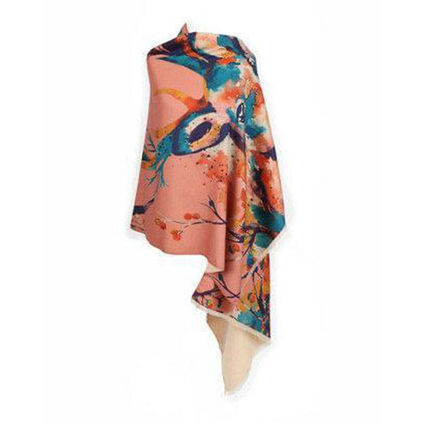 Luxurious Cashmere Watercolour Stag Print Scarf-Nook and Cranny - 2019 REI National Gift Store of the Year