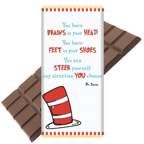 Luxury Irish Milk Chocolate 75g Bar – A message of encouragement from Dr Seuss!-Nook and Cranny - 2019 REI National Gift Store of the Year