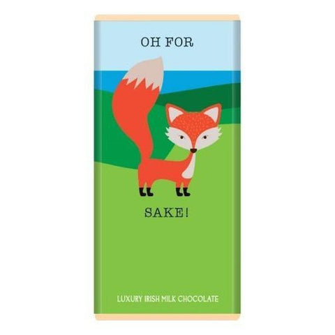 Luxury Irish Milk Chocolate 75g Bar – 'Oh for fox sake'-Nook and Cranny - 2019 REI National Gift Store of the Year
