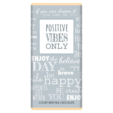 Luxury Irish Milk Chocolate 75g Bar – 'Positive Vibes'-Nook and Cranny - 2019 REI National Gift Store of the Year