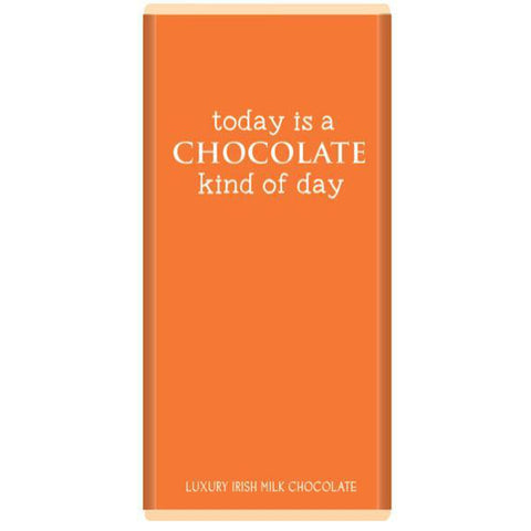 Luxury Irish Milk Chocolate 75g Bar – 'Today is a Chocolate kind of day'-Nook and Cranny - 2019 REI National Gift Store of the Year