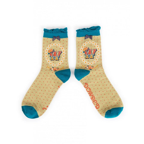 Luxury Powder Socks-Find your Initial-Nook and Cranny - 2019 REI National Gift Store of the Year