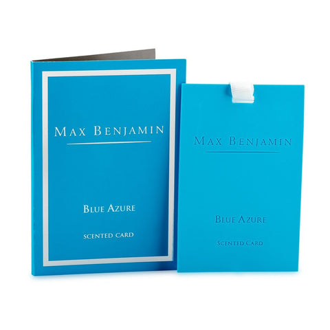 Max Benjamin - Blue Azure Luxury Scented Card-Nook & Cranny Gift Store-2019 National Gift Store Of The Year-Ireland-Gift Shop
