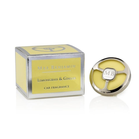 Max Benjamin - Lemongrass & Ginger Luxury Car Fragrance-Nook and Cranny - 2019 REI National Gift Store of the Year