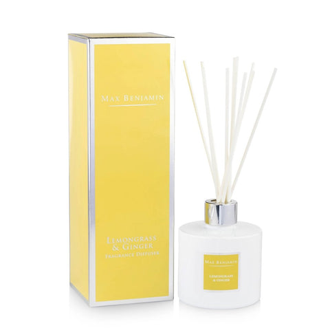 Max Benjamin - Lemongrass & Ginger Luxury Diffuser-Nook and Cranny - 2019 REI National Gift Store of the Year