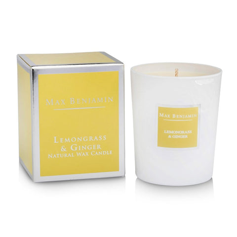 Max Benjamin - Lemongrass & Ginger Luxury Natural Candle-Nook and Cranny - 2019 REI National Gift Store of the Year
