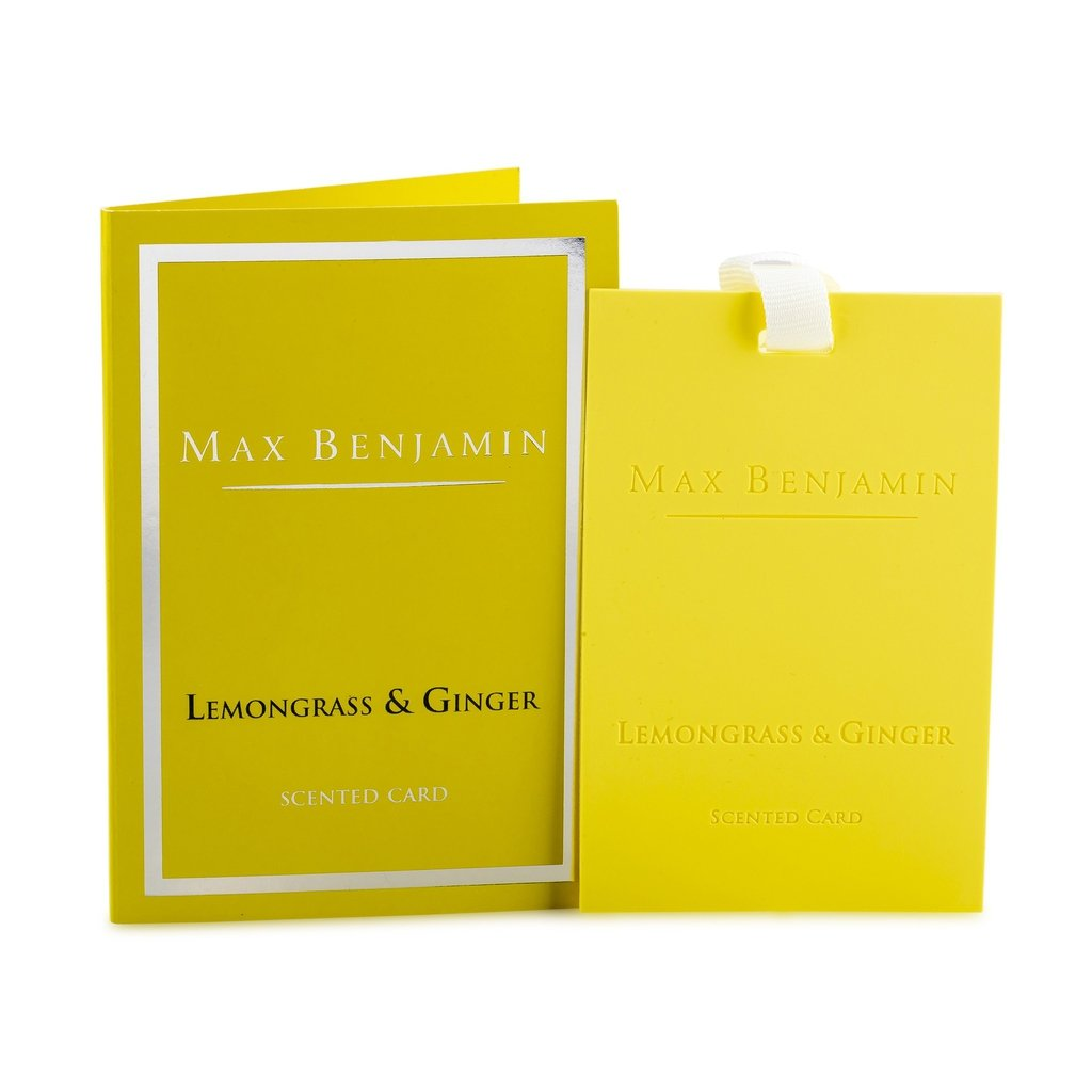 Max Benjamin - Lemongrass & Ginger Luxury Scented Card-Nook & Cranny Gift Store-2019 National Gift Store Of The Year-Ireland-Gift Shop