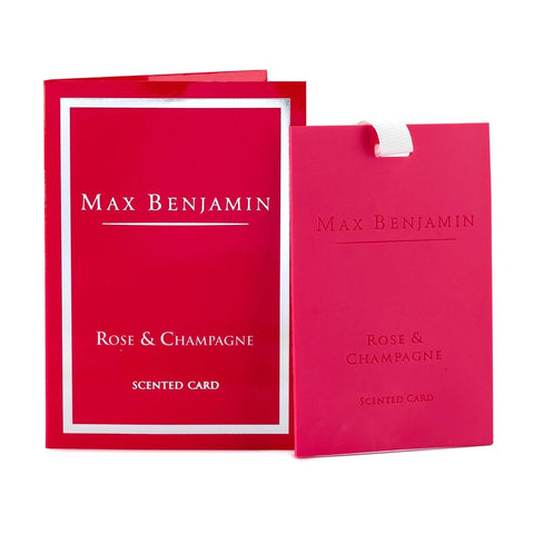 Max Benjamin - Rose & Champagne Luxury Scented Card-Nook & Cranny Gift Store-2019 National Gift Store Of The Year-Ireland-Gift Shop