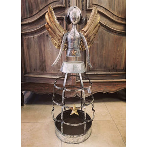Metal Angel Figurine Planter - a contemporary addition to your home-Nook and Cranny - 2019 REI National Gift Store of the Year