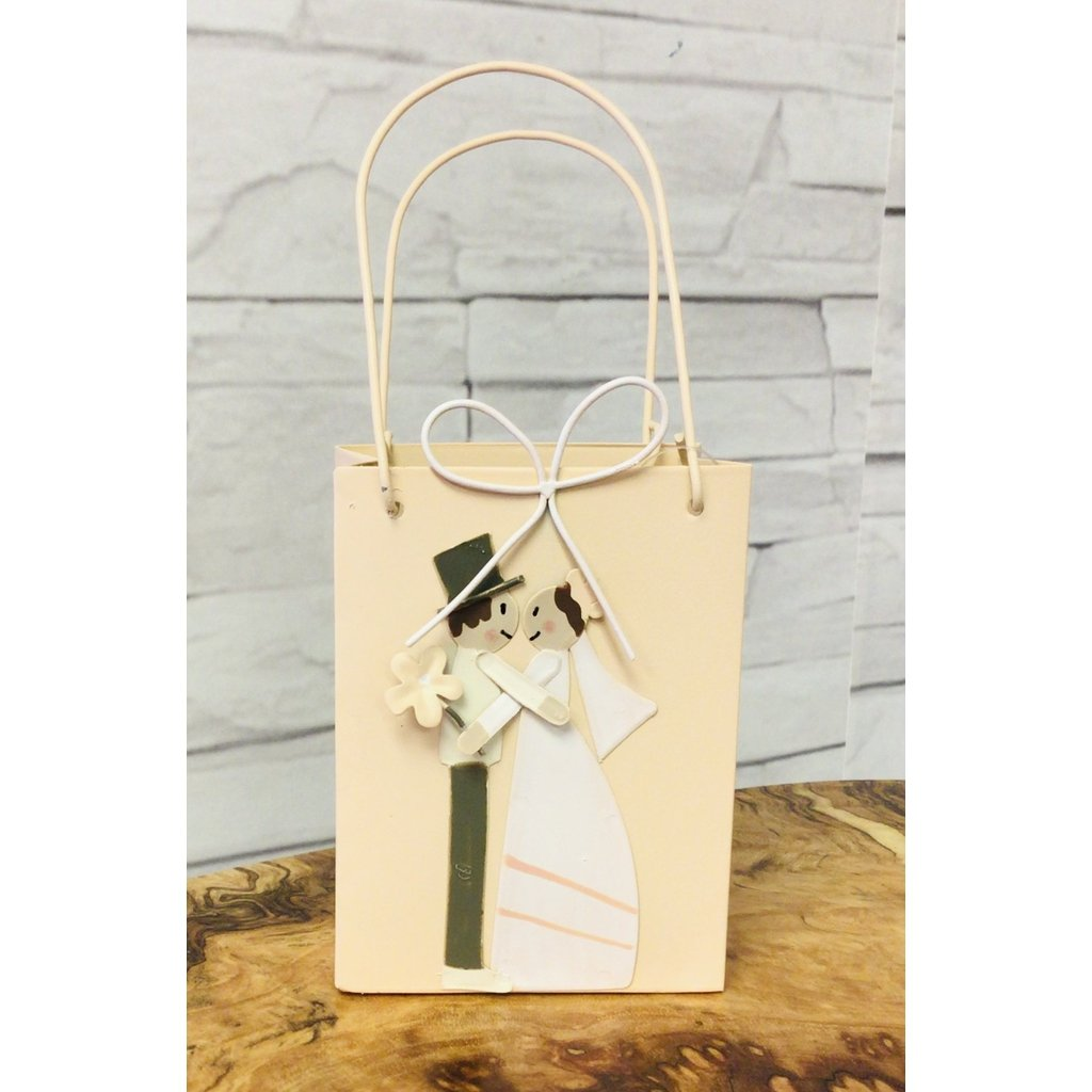 Metal Keepsake Bag with Bridal Pair-Nook and Cranny - 2019 REI National Gift Store of the Year