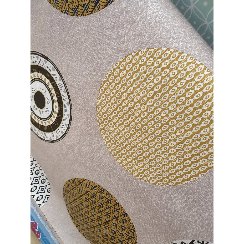 Mexican Circles - Oil Cloth ( x 1 metre length x 1.4 mtr width)-Nook and Cranny - 2019 REI National Gift Store of the Year