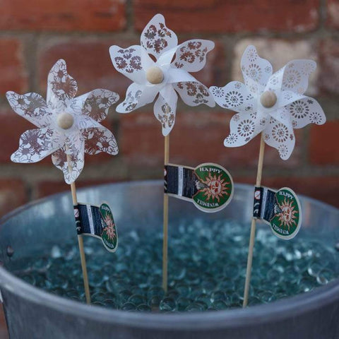Mini White Windmills - Watch as they as swirl in a gentle breeze...-Nook and Cranny - 2019 REI National Gift Store of the Year