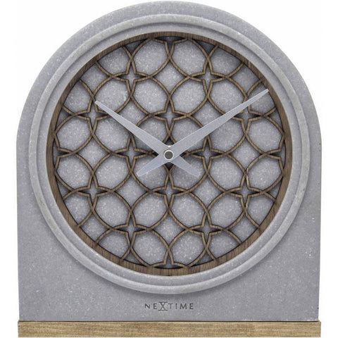 Modern concrete style mantle clock - 21.5cm-Nook and Cranny - 2019 REI National Gift Store of the Year