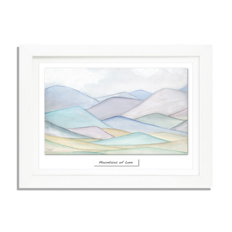 Mountains Of Love - Framed Irish Art Print-Nook & Cranny Gift Store-2019 National Gift Store Of The Year-Ireland-Gift Shop