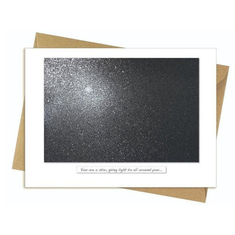 Night Sky - You Are A Star, Giving Light To All Around You… Card-Nook & Cranny Gift Store-2019 National Gift Store Of The Year-Ireland-Gift Shop