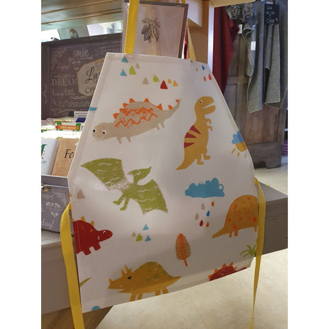 Oil Cloth Kids Apron (Ages 3-7ish) - Dinosaur-Nook and Cranny - 2019 REI National Gift Store of the Year