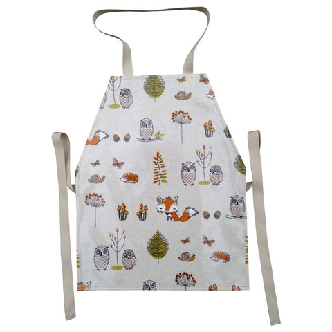 Oil Cloth Kids Apron (Ages 3-7ish) - Woodland-Nook and Cranny - 2019 REI National Gift Store of the Year