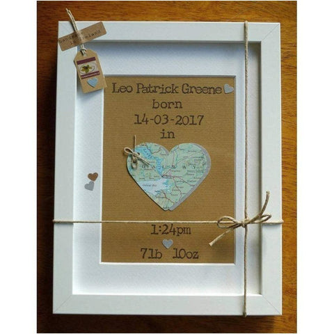 Personalised Frame for New Baby - Handcrafted in Ireland-Nook and Cranny - 2019 REI National Gift Store of the Year