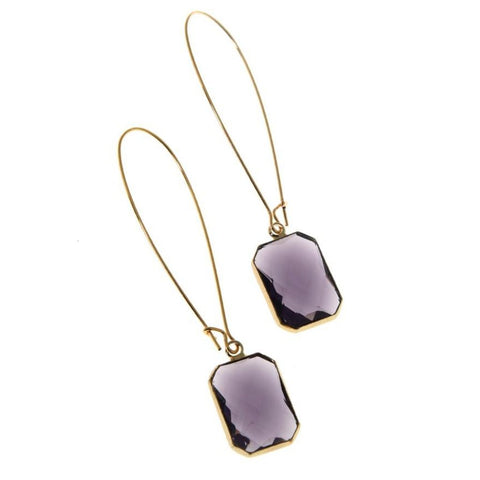 Plum Deco Drops Earrings - Long-Nook and Cranny - 2019 REI National Gift Store of the Year