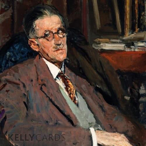 Portrait of James Joyce... card-Nook & Cranny Gift Store-2019 National Gift Store Of The Year-Ireland-Gift Shop