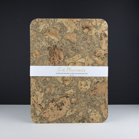 Rectangular Cork Table Mats - (4) Ice Grey-Nook and Cranny - 2019 REI National Gift Store of the Year