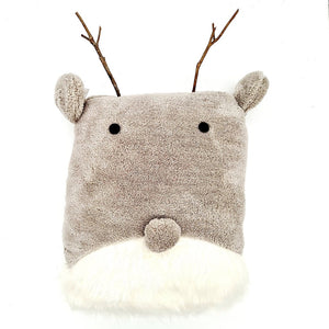 Reindeer Cushion with antlers-Nook and Cranny - 2019 REI National Gift Store of the Year