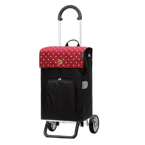Sturdy Shopper Bag on Wheels (also use as a trolley!) - Malit Red-Nook & Cranny Gift Store-2019 National Gift Store Of The Year-Ireland-Gift Shop