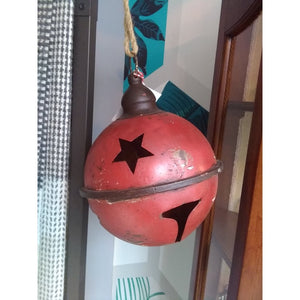 Rustic Red Metal Christmas Bell-Nook and Cranny - 2019 REI National Gift Store of the Year