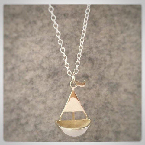 Sail Away Sterling Silver Necklace - Made in Laois-Nook and Cranny - 2019 REI National Gift Store of the Year