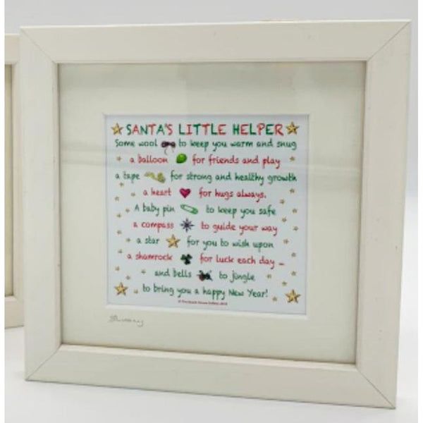 Santa's Little Helper Poem - Small Frame-Nook and Cranny - 2019 REI National Gift Store of the Year