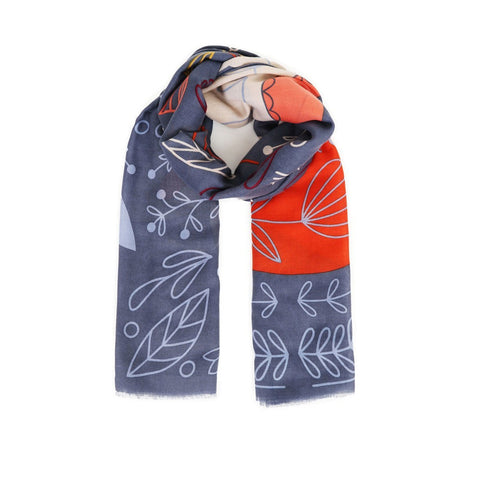 Scandi Fox & Hare Print Scarf-Nook and Cranny - 2019 REI National Gift Store of the Year
