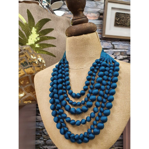Silk Multi Strand Handcrafted Necklace-Nook & Cranny Gift Store-2019 National Gift Store Of The Year-Ireland-Gift Shop