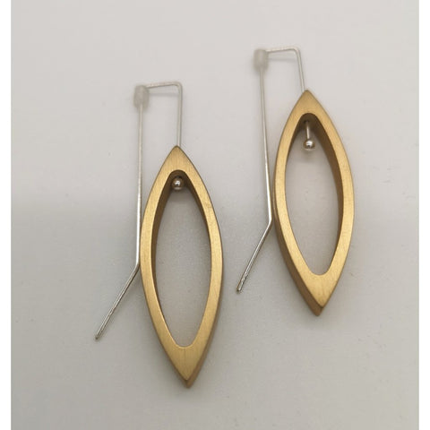 Small Navette Drop Earrings - (Click to see all 4 available colours)-Nook & Cranny Gift Store-2019 National Gift Store Of The Year-Ireland-Gift Shop