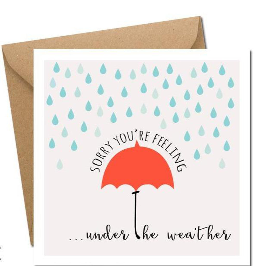 Sorry You're Feeling Under the Weather - Card-Nook & Cranny Gift Store-2019 National Gift Store Of The Year-Ireland-Gift Shop