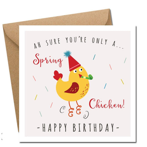 Spring Chicken Birthday Card-Nook and Cranny - 2019 REI National Gift Store of the Year
