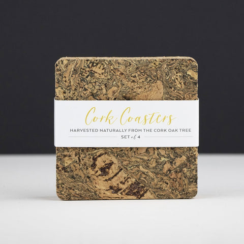 Square Cork Coasters - (4) Ice Grey-Nook and Cranny - 2019 REI National Gift Store of the Year