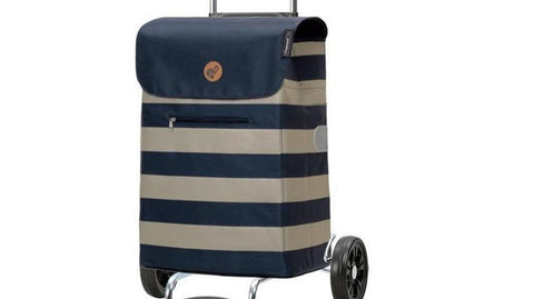 Sturdy, Sleek & Stylish Shopper Bag on Wheels (Lina Blue)-Nook & Cranny Gift Store-2019 National Gift Store Of The Year-Ireland-Gift Shop